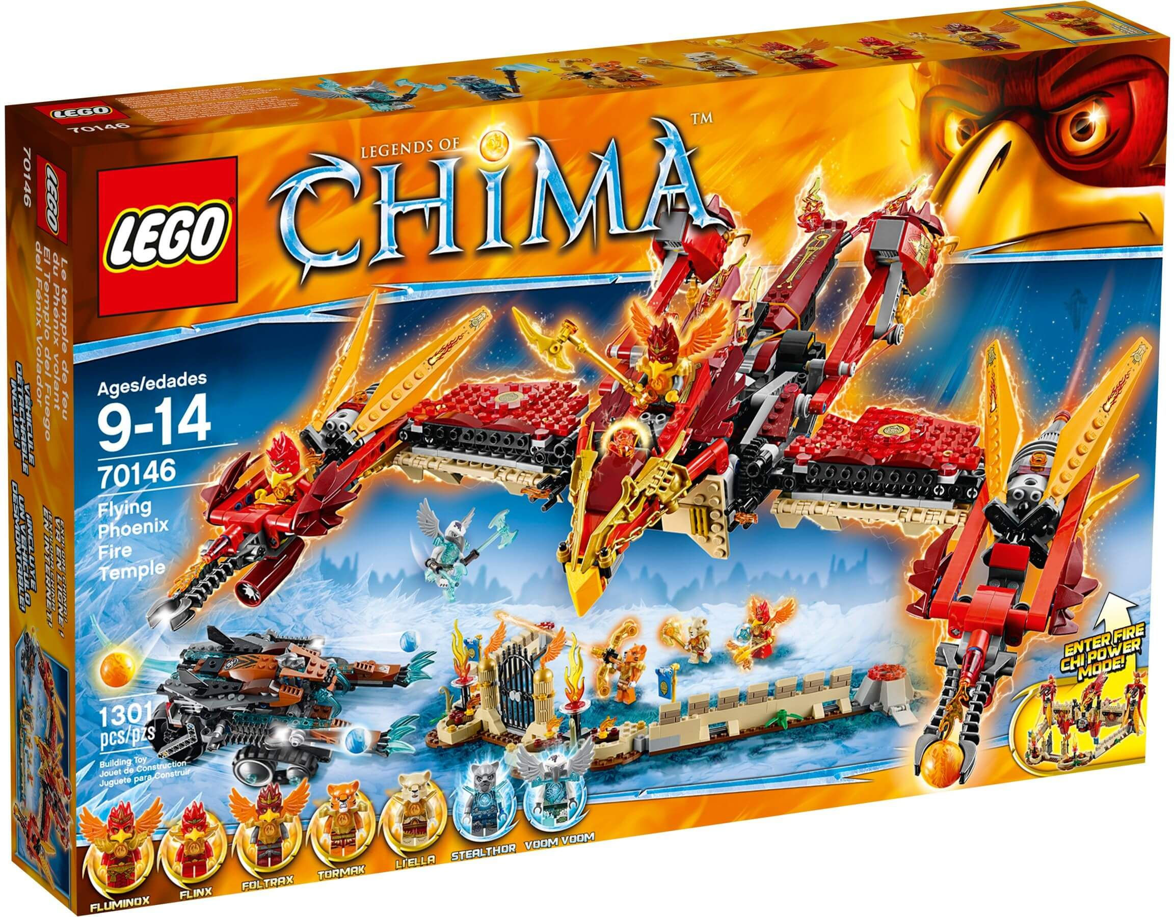 Mua đồ chơi LEGO 70146 - LEGO Chima 70146 - Ngôi đền Phượng Hoàng Lửa (LEGO Chima Flying Phoenix Flying Temple 70146)