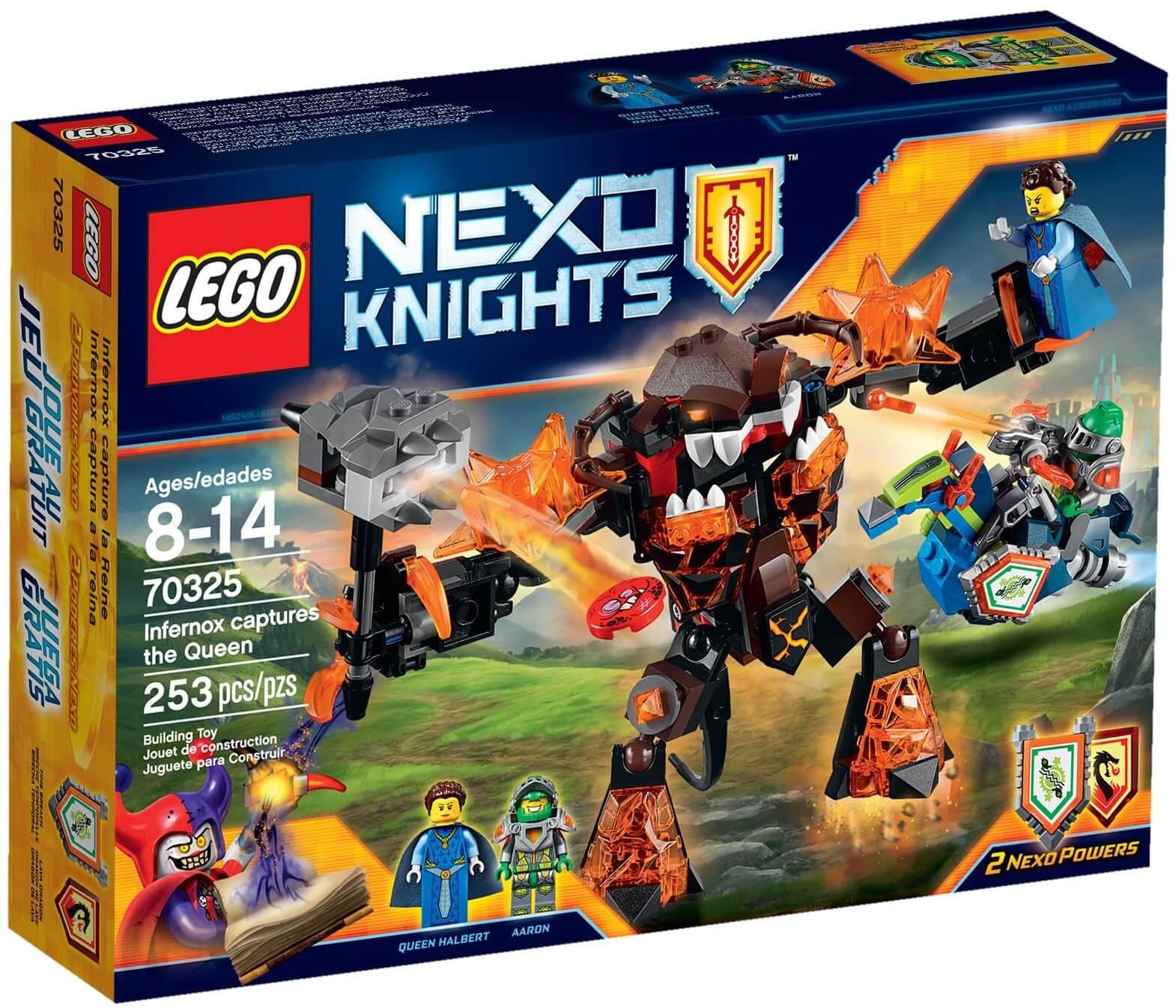Mua đồ chơi LEGO 70325 - LEGO Nexo Knights 70325 - Quái vật Infernox bắt cóc Nữ Hoàng (LEGO Nexo Knights Infernox captures the Queen 70325)