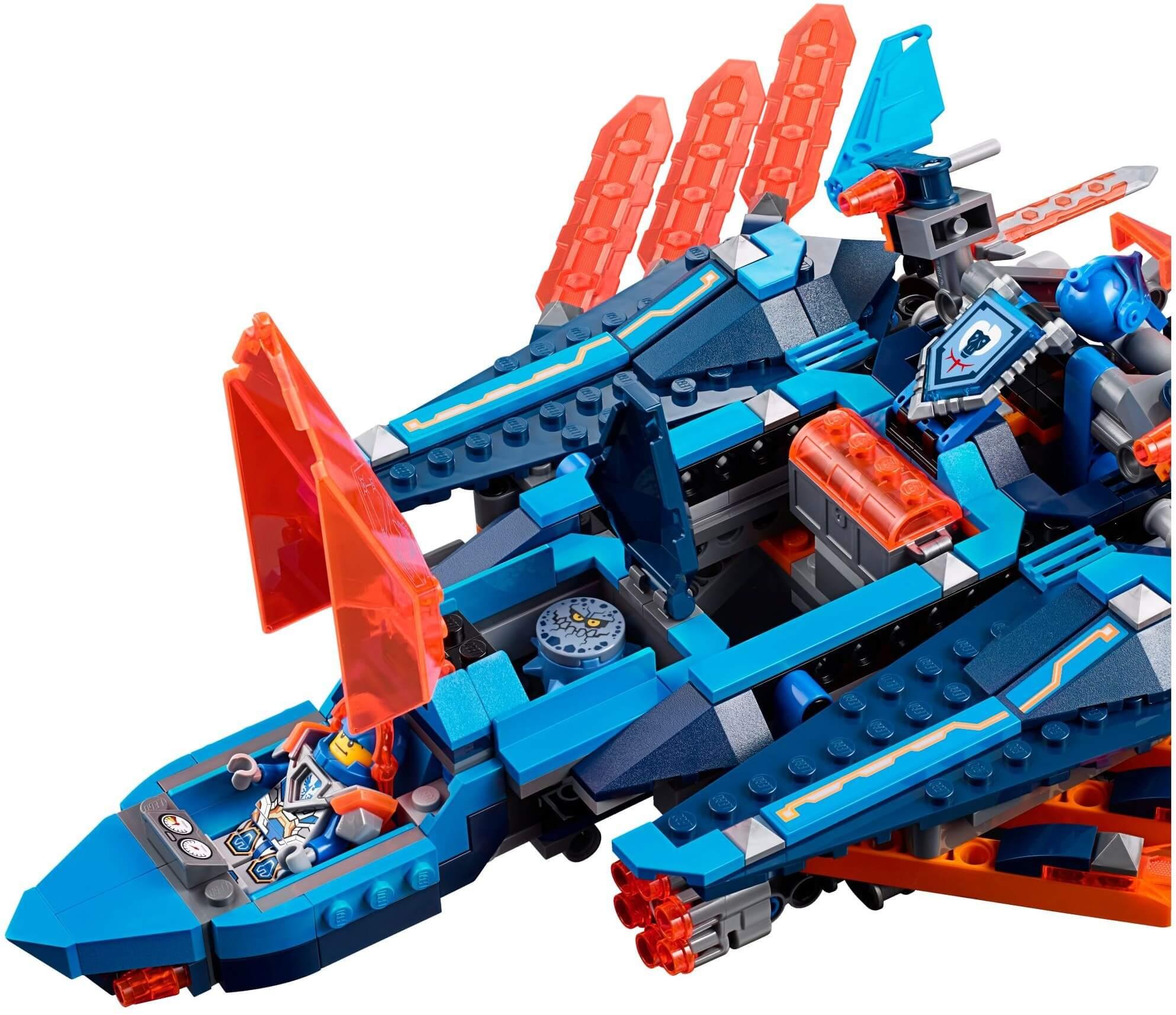 Mua đồ chơi LEGO 70351 - LEGO Nexo Knights 70351 - Phi Thuyền Chim Ưng của Clay (LEGO 70351 Clay's Falcon Fighter Blaster)