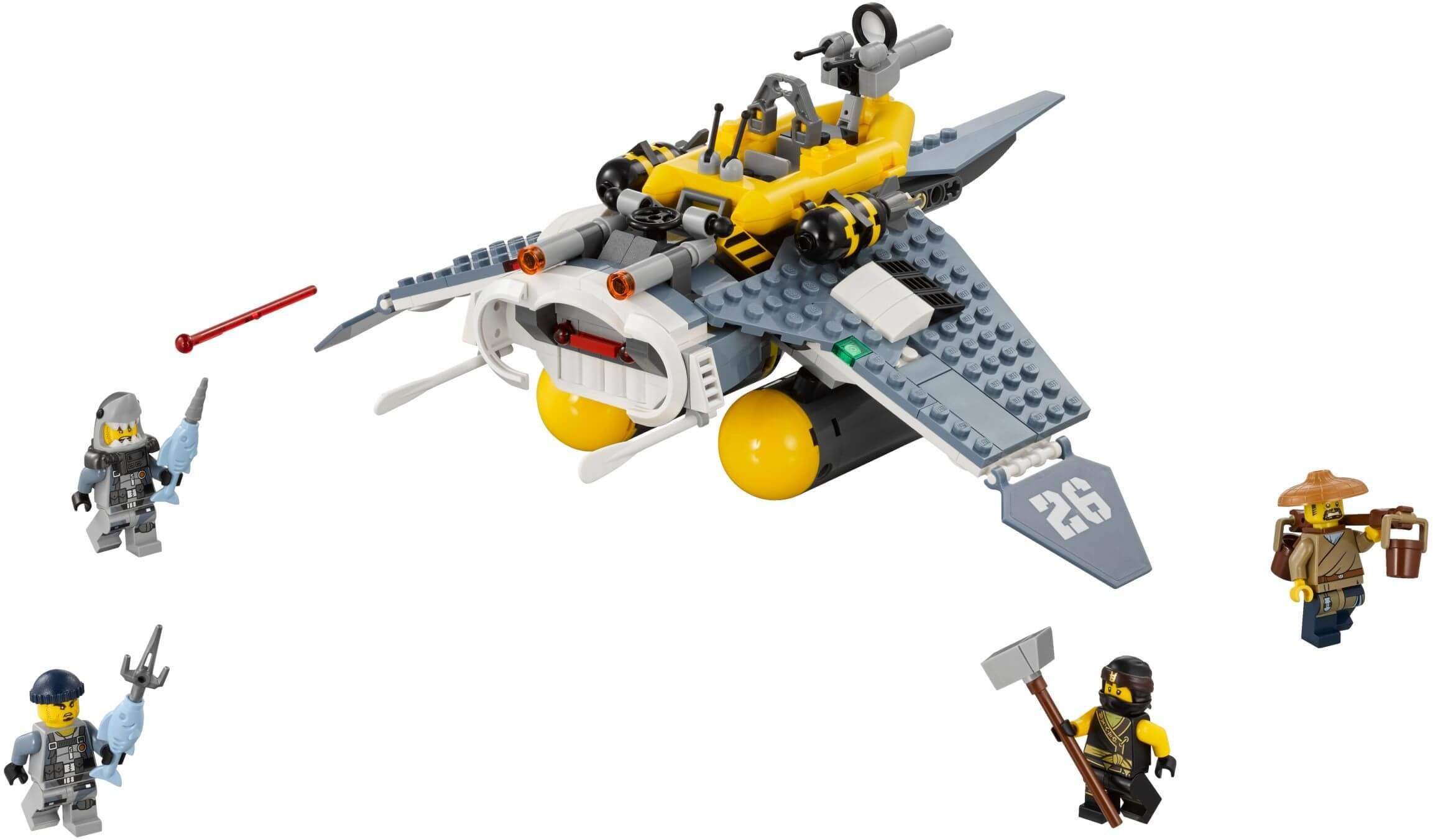 Mua đồ chơi LEGO 70609 - LEGO Ninjago 70609 - Máy Bay Thả Bom của Cole (LEGO Ninjago Manta Ray Bomber)