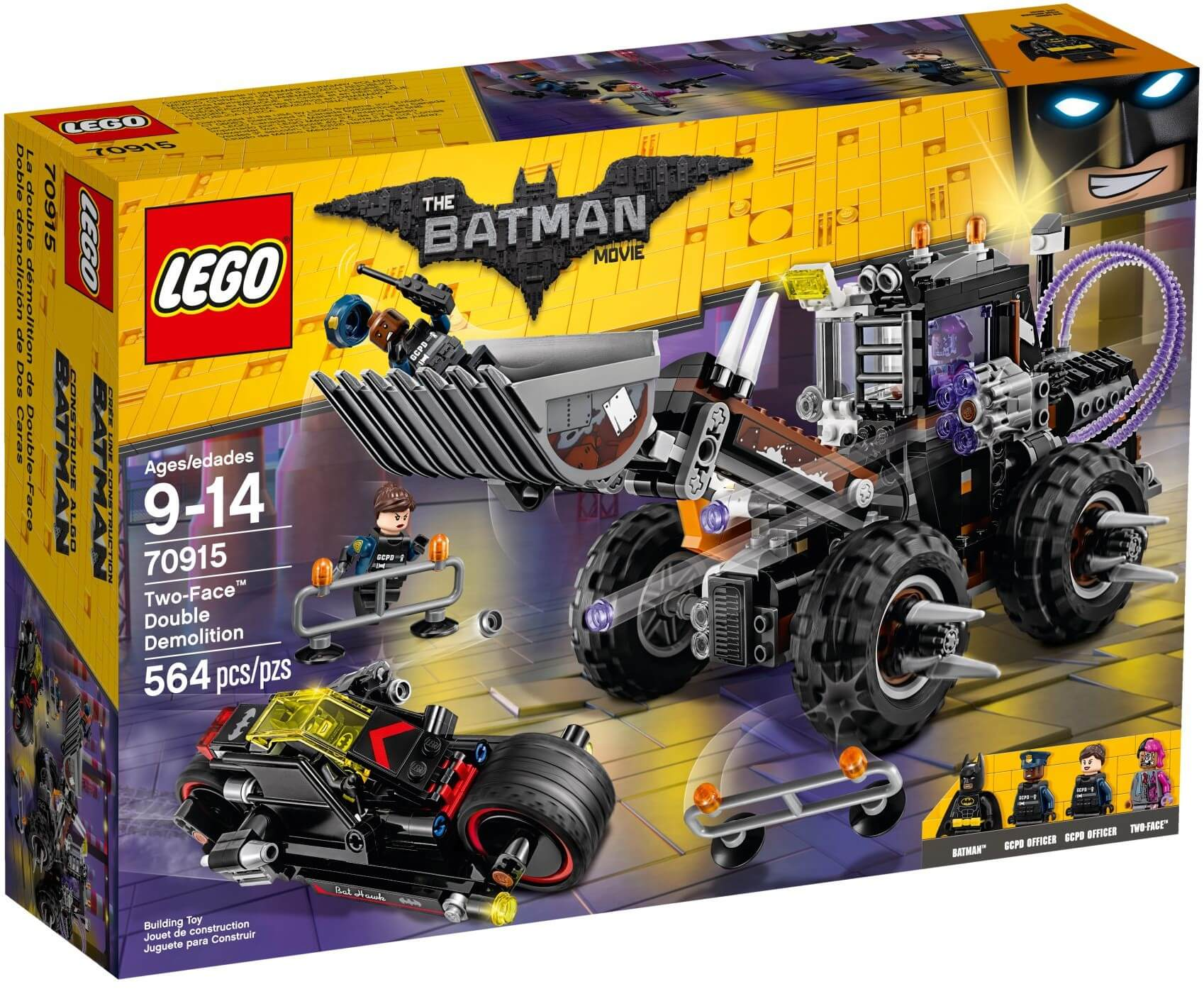 Mua đồ chơi LEGO 70915 - LEGO The Batman Movie 70915 - Batman đại chiến Máy Ủi Khổng Lồ (LEGO The Batman Movie Two-Face Double Demolition)