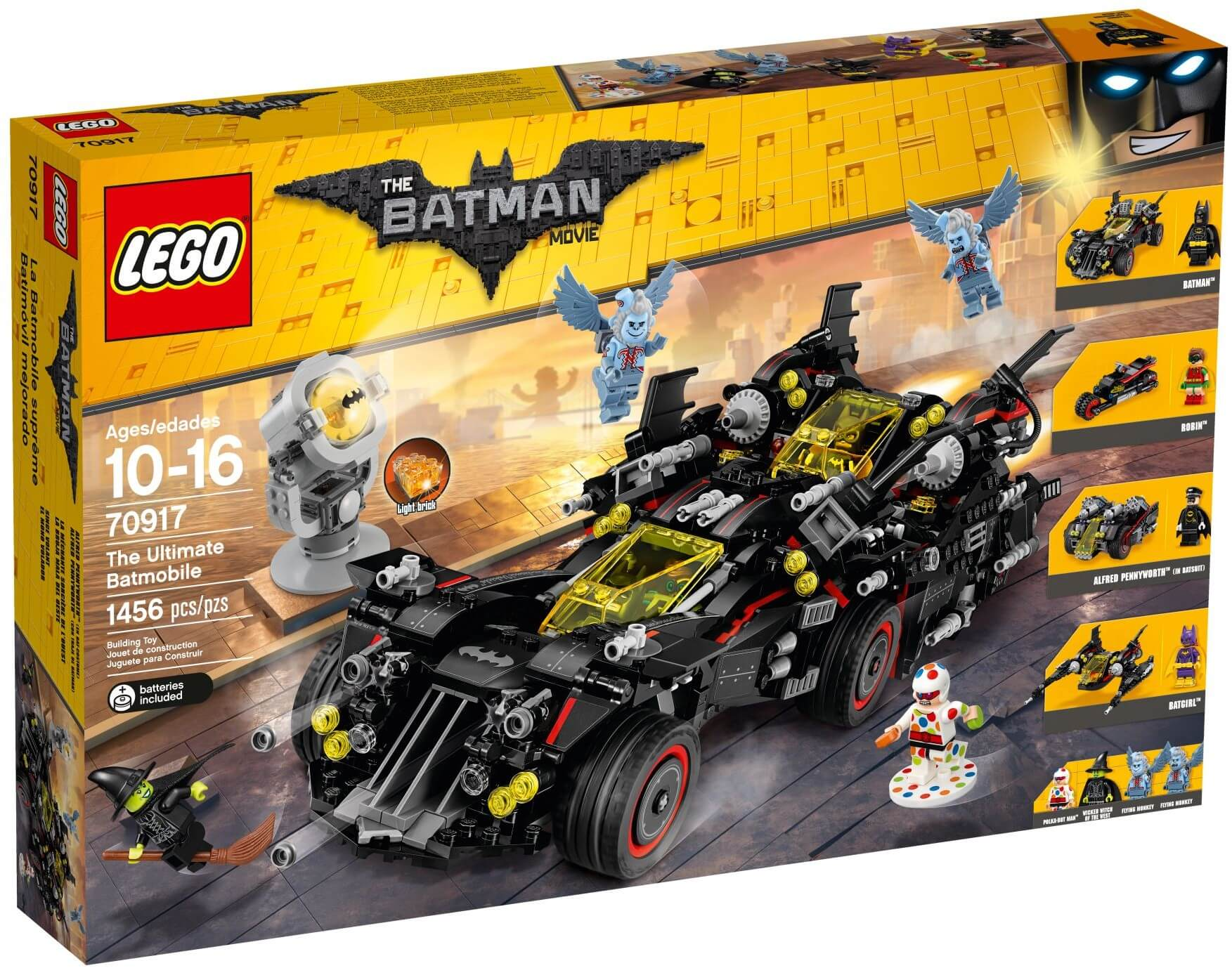 Mua đồ chơi LEGO 70917 - LEGO The Batman Movie 70917 - Siêu Xe Biến Hình Batmobile 4-trong-1 (LEGO The Batman Movie The Ultimate Batmobile)