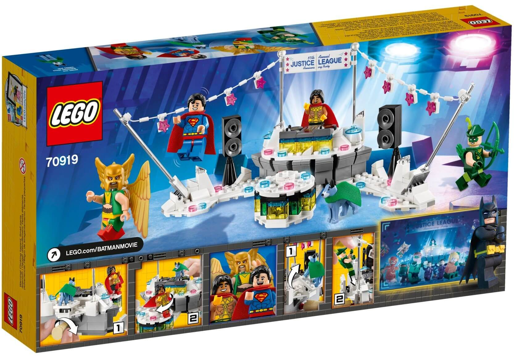 Mua đồ chơi LEGO 70919 - LEGO The Batman Movie 70919 - Anh Hùng Hội Tụ (LEGO The Batman Movie 70919 The Justice League Anniversary Party)