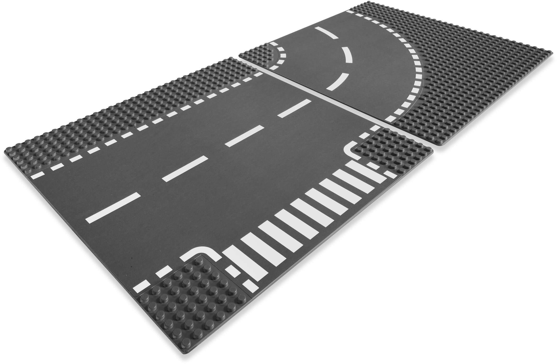 Mua đồ chơi LEGO 7281 - LEGO City 7281 - Giao lộ ngã ba và đường cong (LEGO City T-Junction and Curves Road Plate 7281)