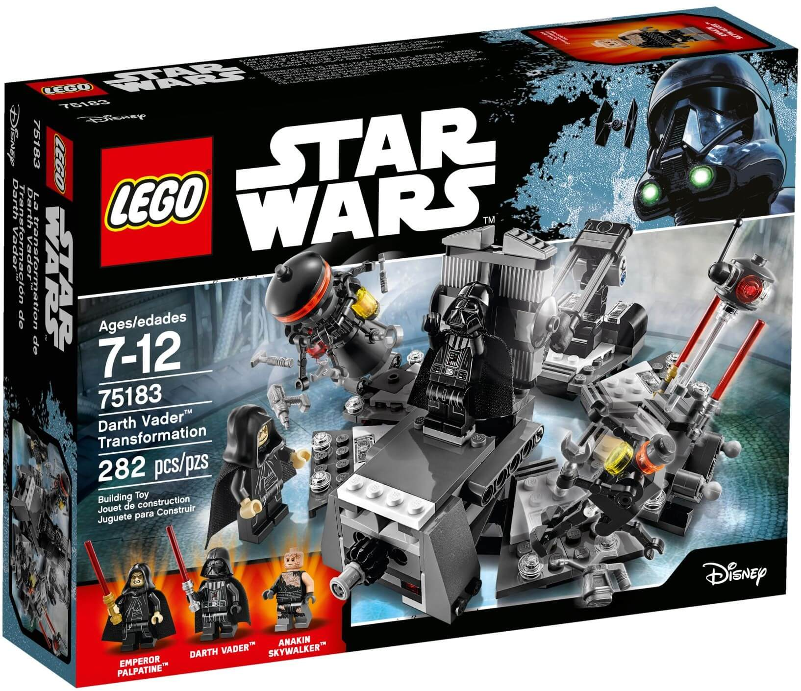 Mua đồ chơi LEGO 75183 - LEGO Star Wars 75183 - Darth Vader tái sinh từ Anakin Skywalker (LEGO Star Wars Darth Vader Transformation)