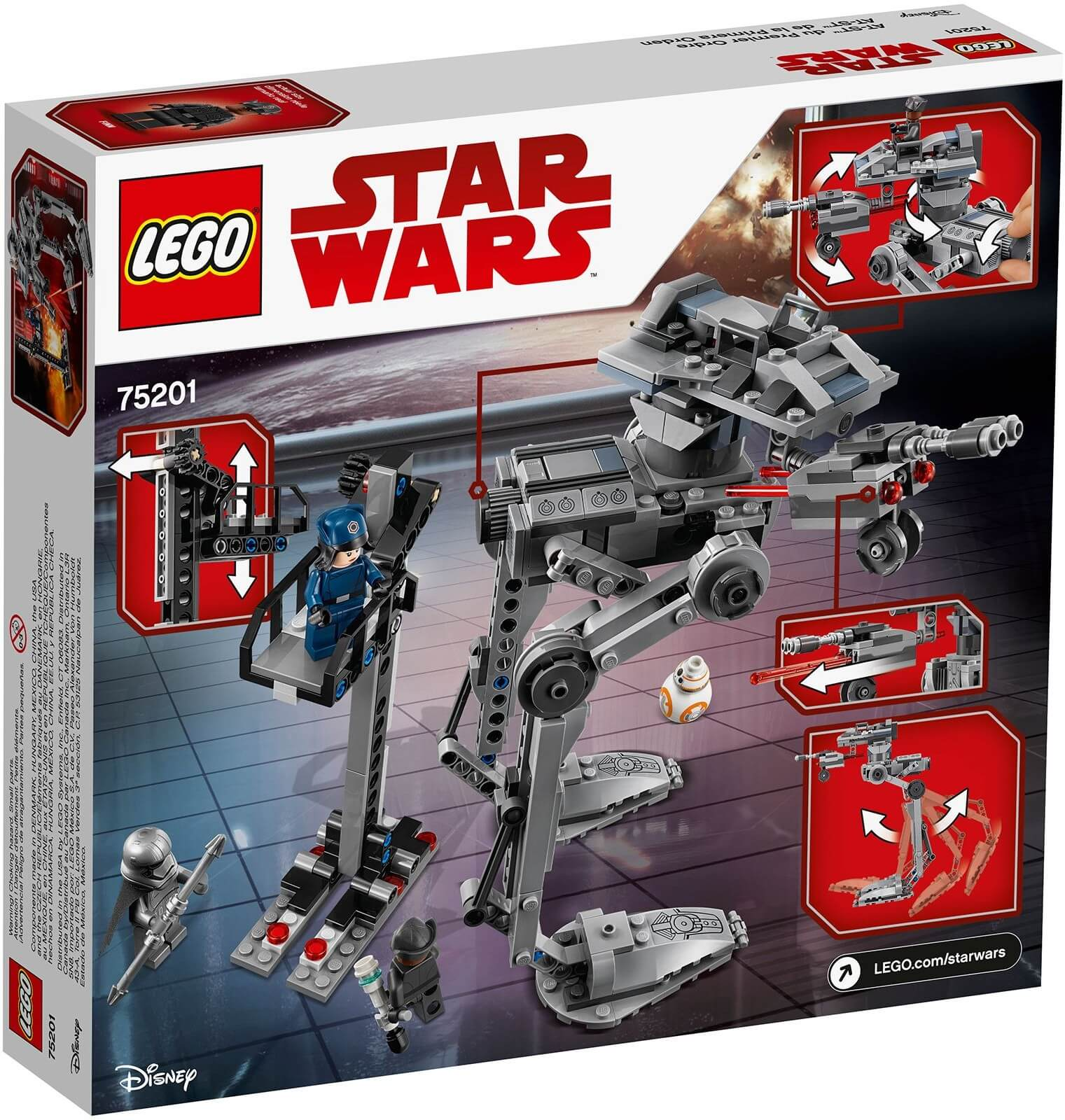 Mua đồ chơi LEGO 75201 - LEGO Star Wars 75201 - AT-ST Robot Do Thám First Order (LEGO Star Wars 75201 First Order AT-ST)