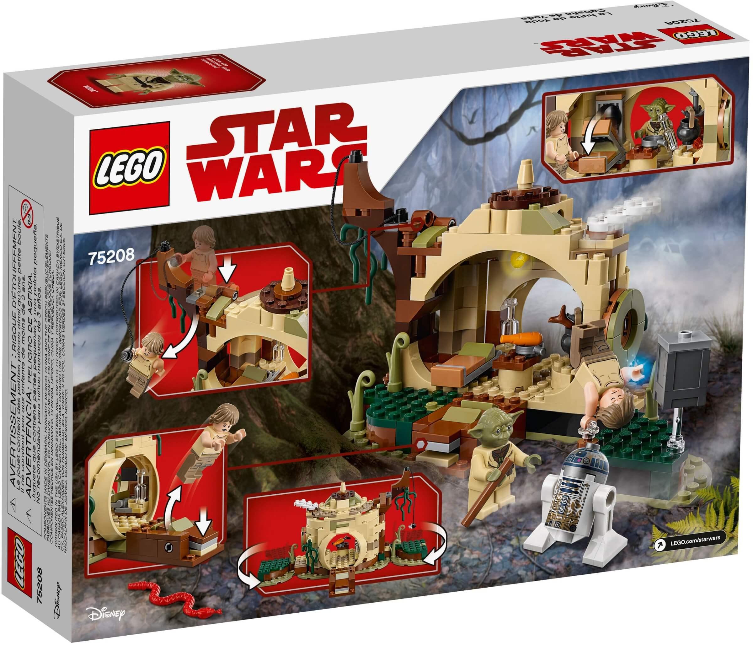 Mua đồ chơi LEGO 75208 - LEGO Star Wars 75208 - Sư Phụ Yoda và Luke Skywalker (LEGO 75208 Yoda's Hut)