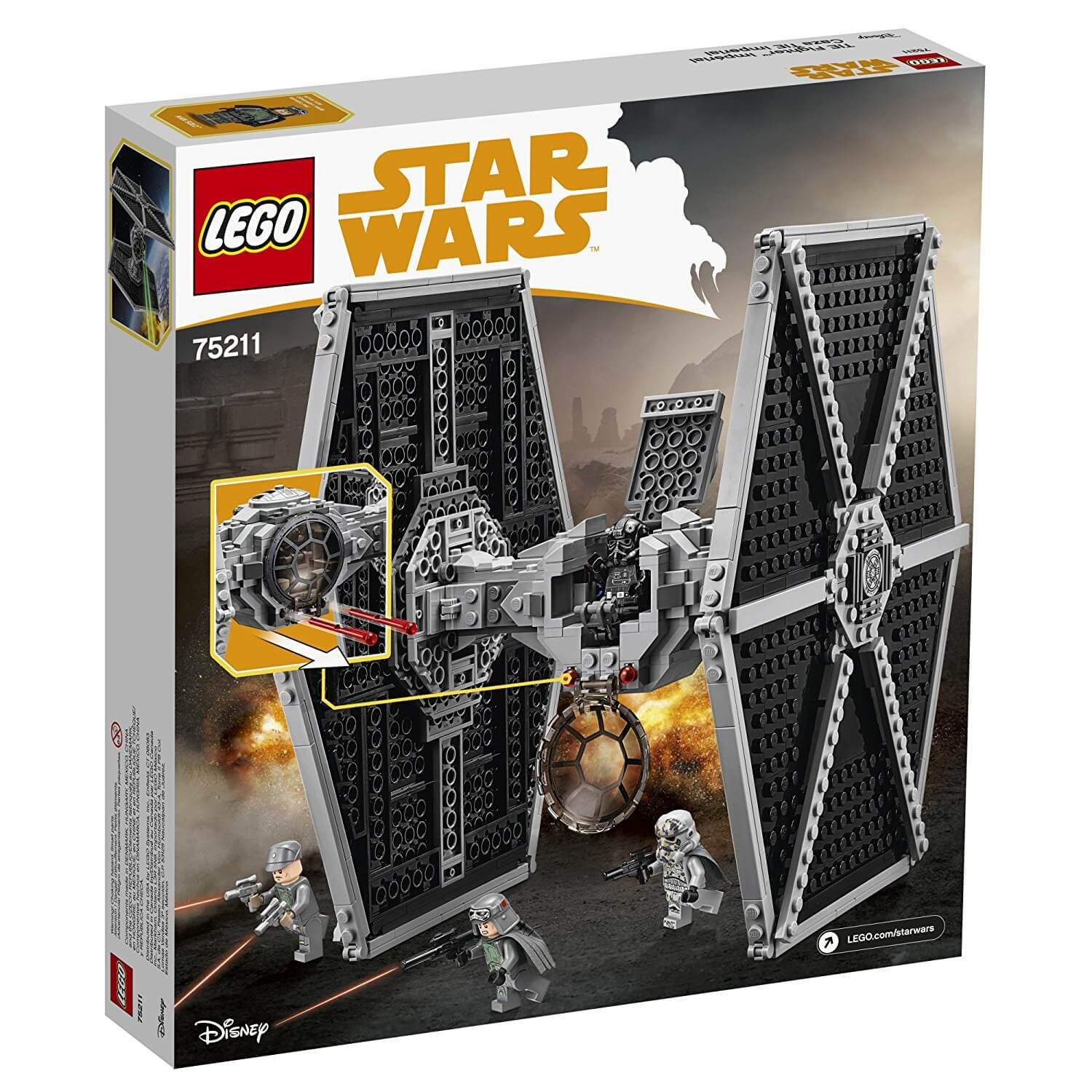 Mua đồ chơi LEGO 75211 - LEGO Star Wars 75211 - Phi Thuyền TIE Fighter Hạng Nặng (LEGO 75211 Imperial TIE Fighter)