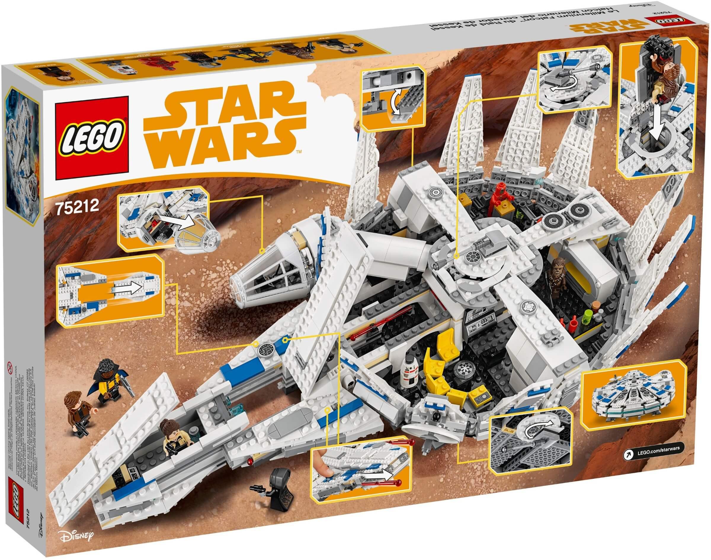 Mua đồ chơi LEGO 75212 - LEGO Star Wars 75212 - Phi Thuyền Millennium Falcon 2018 (LEGO 75212 Kessel Run Millennium Falcon)
