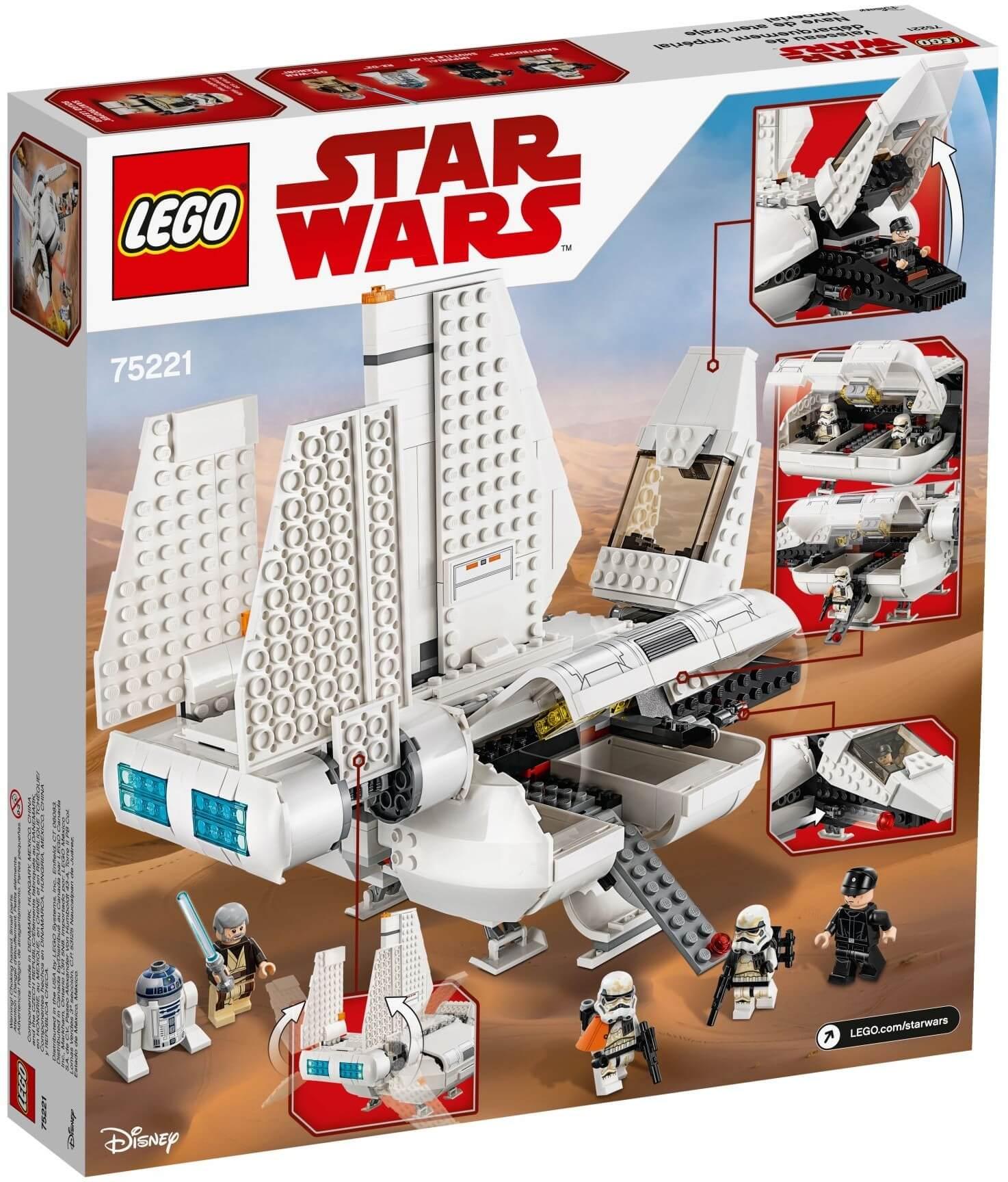Mua đồ chơi LEGO 75221 - LEGO Star Wars 75221 - Tàu Vận Chuyển Hoàng Gia (LEGO 75221 Imperial Landing Craft)