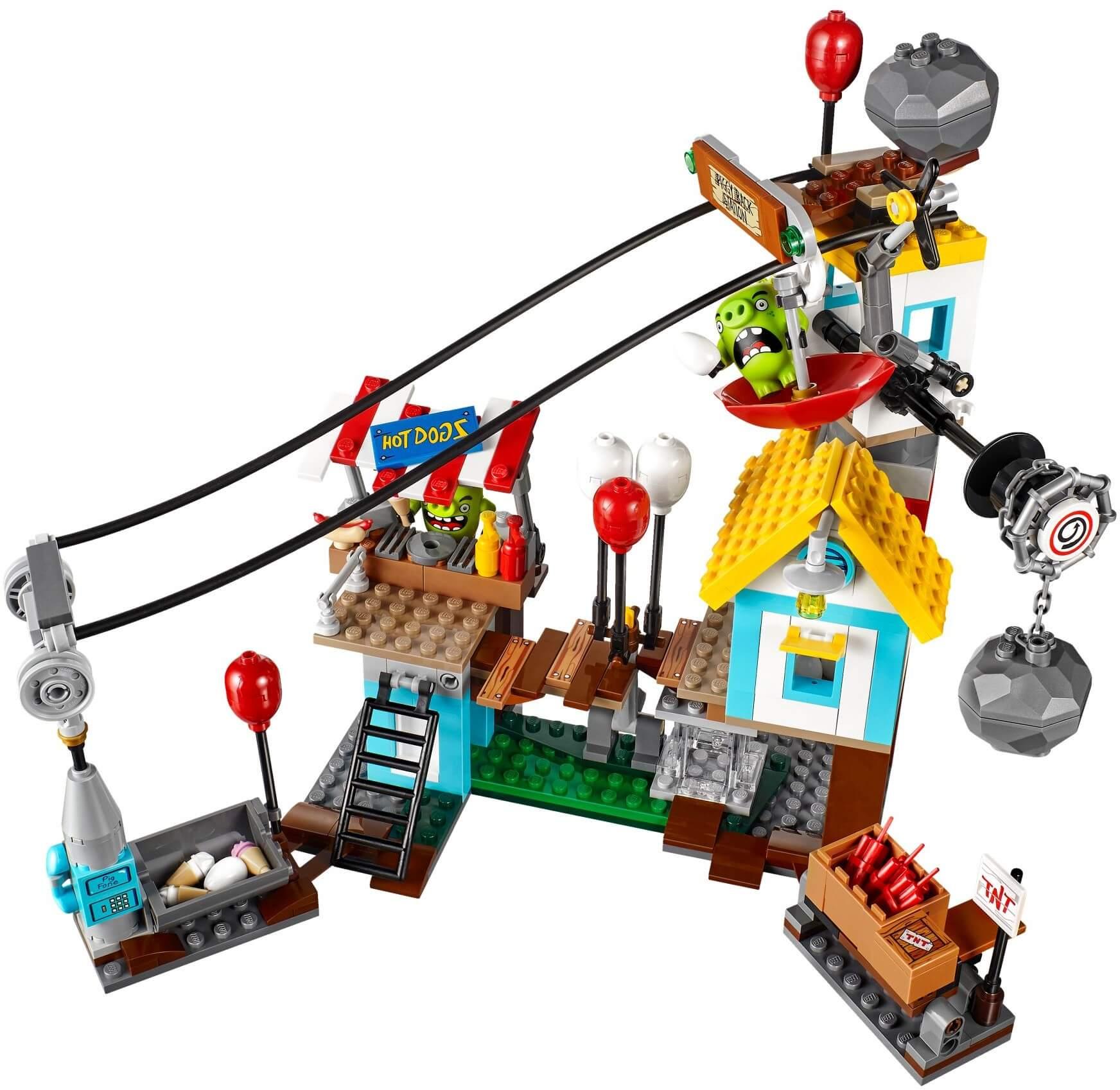 Mua đồ chơi LEGO 75824 - LEGO Angry Birds 75824 - Cuộc tấn công Thành Phố Lợn (LEGO Angry Birds Pig City Teardown 75824)