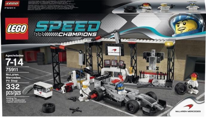 Mua đồ chơi LEGO 75911 - LEGO Speed Champions 75911 - Trạm Sửa chữa của Đội McLaren Mercedes (LEGO Speed Champions McLaren Mercedes Pit Stop 75911)