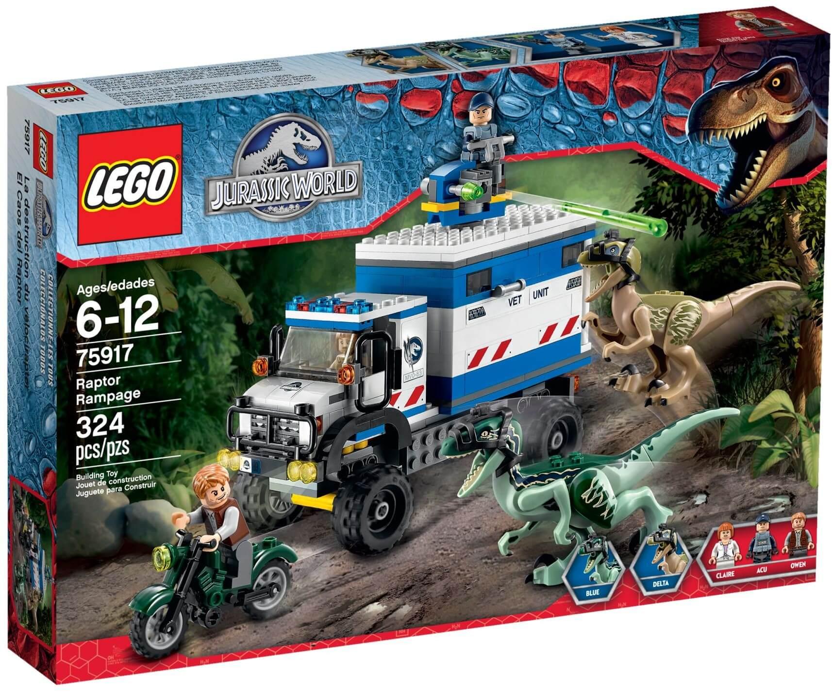 Mua đồ chơi LEGO 75917 - LEGO Jurassic World 75917 - Khủng long Săn mồi Raptor nổi loạn (LEGO Jurassic World Raptor Rampage 75917)