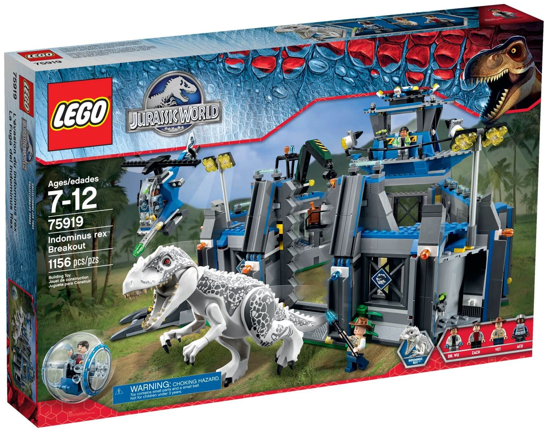 Mua đồ chơi LEGO 75919 - LEGO Jurassic World 75919 - Indominus Rex xổng chuồng (LEGO Jurassic World Indominous Rex Breakout 75919)
