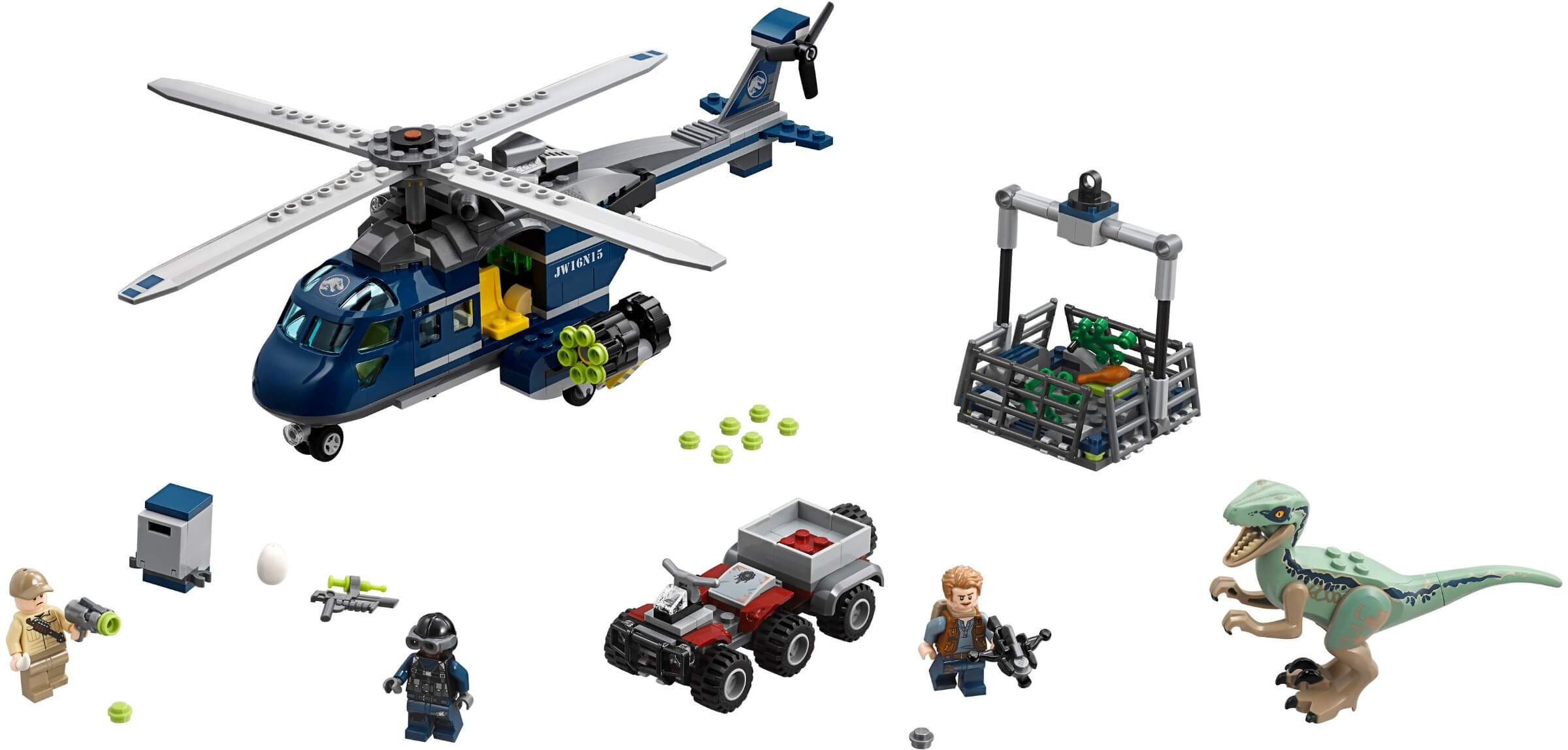 Mua đồ chơi LEGO 75928 - LEGO Khủng Long Jurassic World 75928 - Trực thăng truy bắt Khủng Long Săn Mồi Raptor (LEGO 75928 Blue's Helicopter Pursuit)