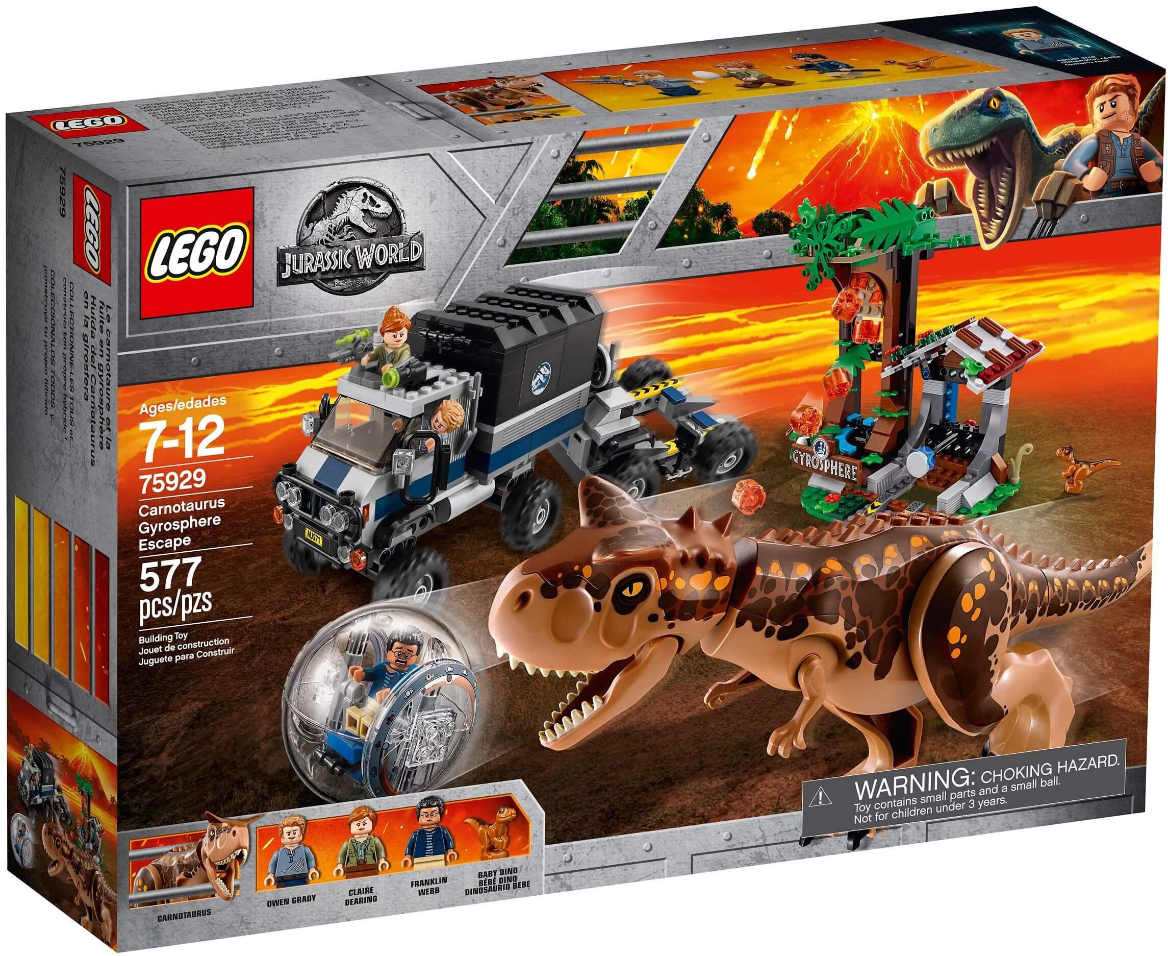 Mua đồ chơi LEGO 75929 - LEGO Khủng Long Jurassic World 75929 - Đội Xe Săn Khủng Long Carnotaurus (LEGO 75929 Carnotaurus Gyrosphere Escape)