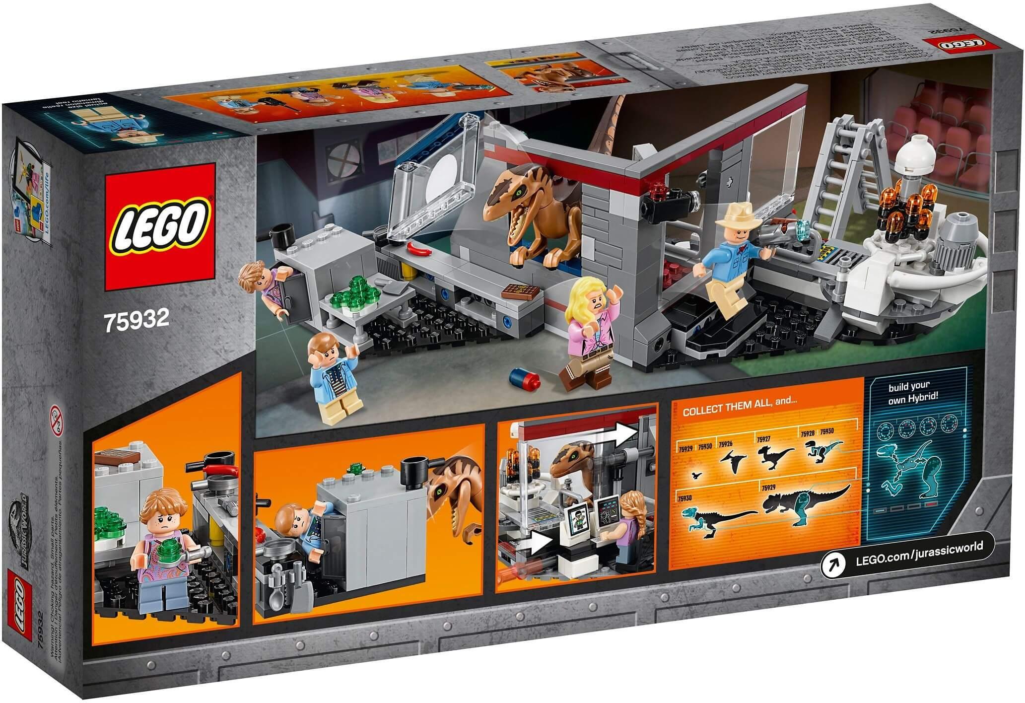 Mua đồ chơi LEGO 75932 - LEGO Khủng Long Jurassic World 75932 - Phòng Thí Nghiệm Khủng Long Săn Mồi Velociraptor (LEGO 75932 Jurassic Park Velociraptor Chase)