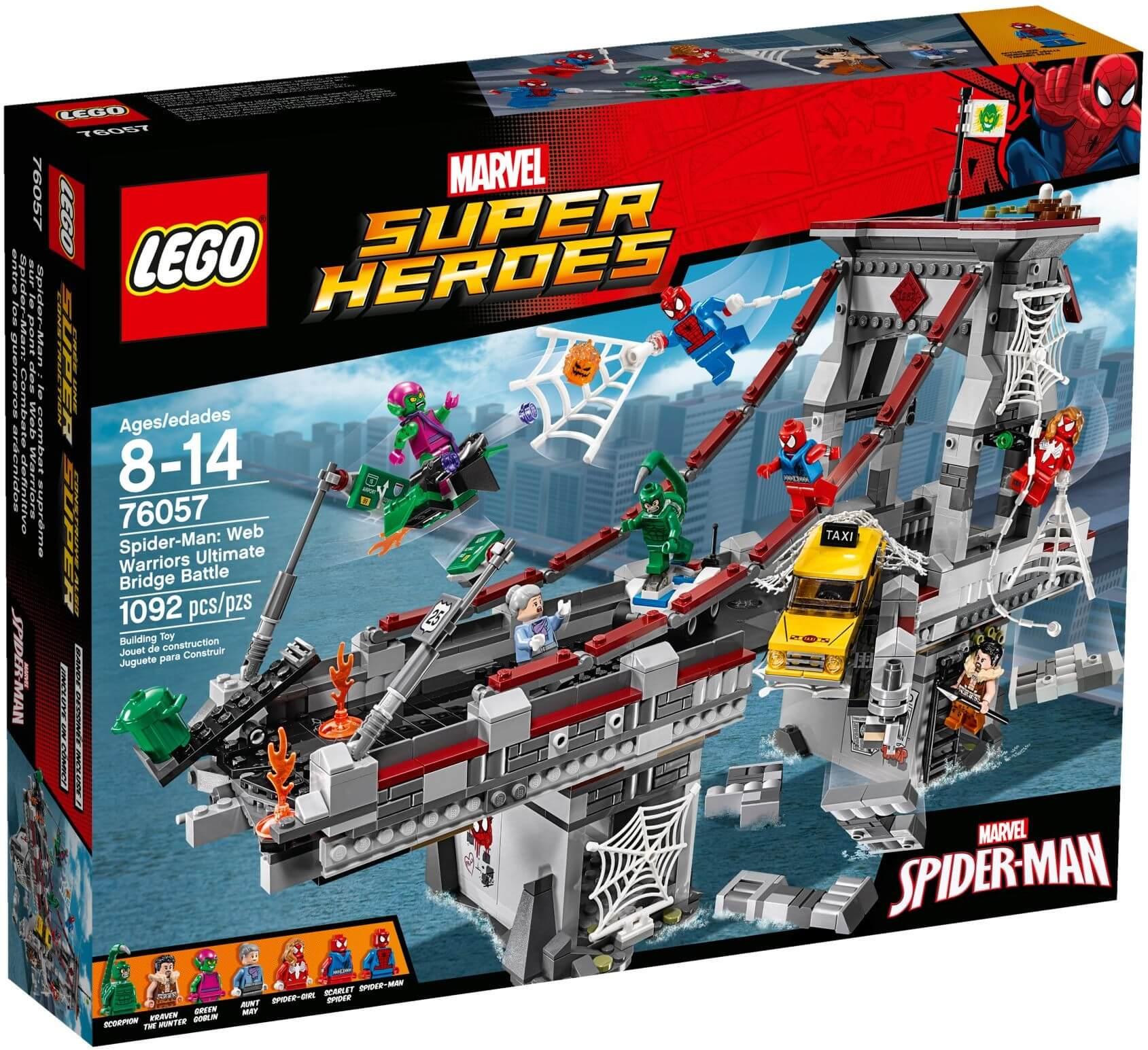 Mua đồ chơi LEGO 76057 - LEGO Marvel Super Heroes 76057 - Đại Chiến trên Cầu của Anh Em Người Nhện (LEGO Marvel Super Heroes Spider-Man Web Warriors Ultimate Bridge 76057)