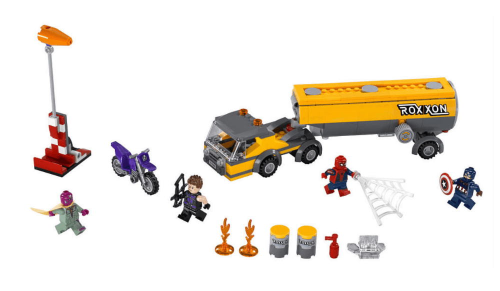 Mua đồ chơi LEGO 76067 - LEGO Marvel Super Heroes 76067 - Spider-Man đại chiến Captain America (LEGO Marvel Super Heroes Tanker Truck Takedown 76067)