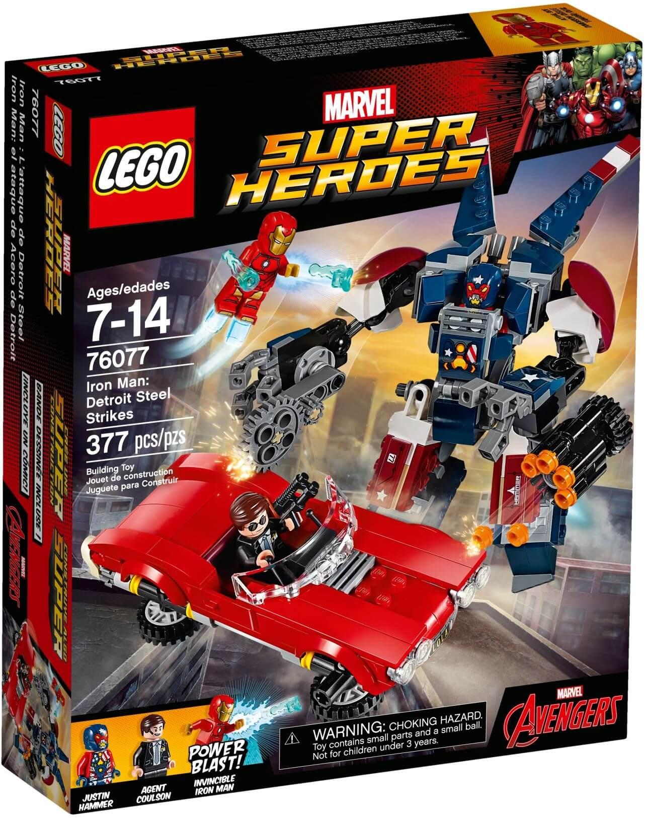Mua đồ chơi LEGO 76077 - LEGO 76077 - Iron Man đại chiến Người Máy Detroit Steel (LEGO Marvel Super Heroes 76077 - Iron Man: Detroit Steel Strikes)