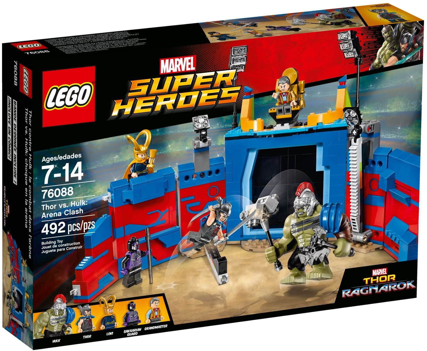 Mua đồ chơi LEGO 76088 - LEGO Marvel Super Heroes 76088 - Đại chiến giữa Thor và Hulk (LEGO Marvel Super Heroes Thor vs. Hulk: Arena Clash)
