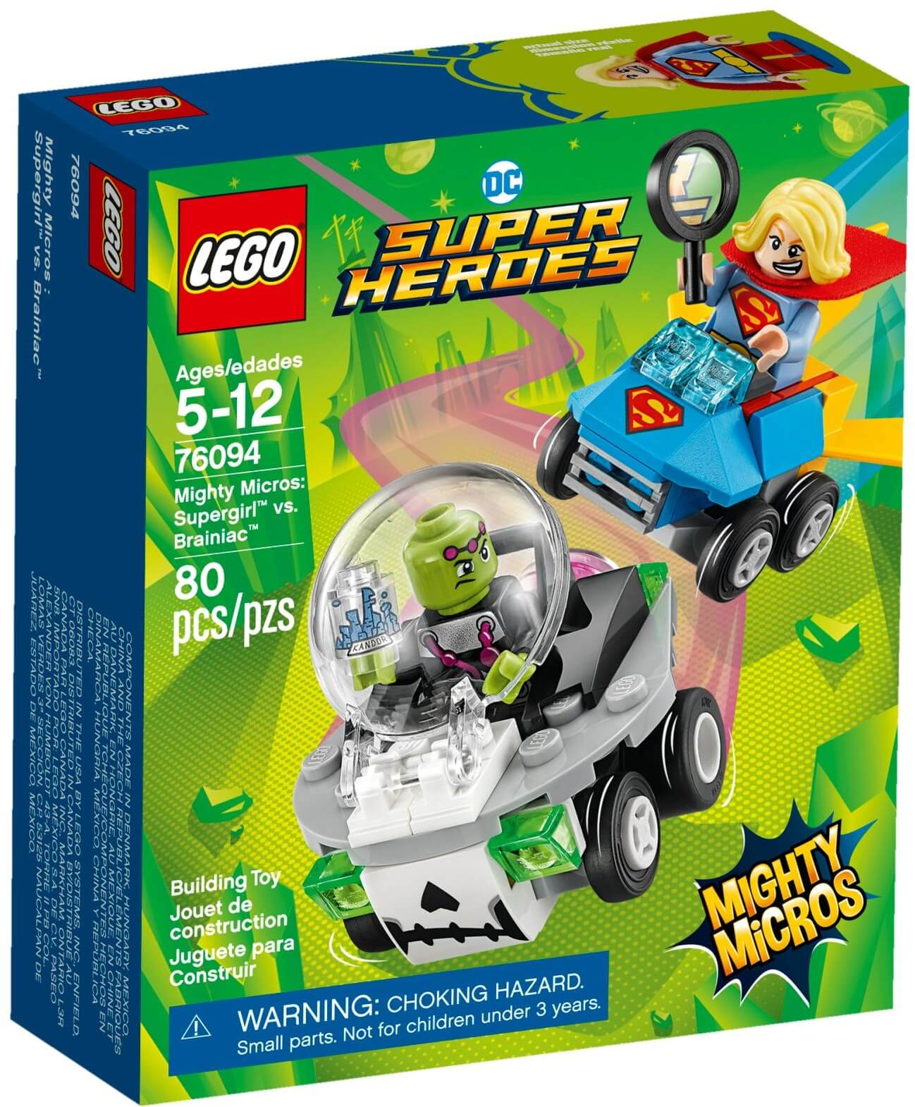 Mua đồ chơi LEGO 76094 - LEGO DC Comics Super Heroes 76094 - Supergirl vs. Brainiac (LEGO DC Comics Super Heroes 76094 Mighty Micros: Supergirl vs. Brainiac)