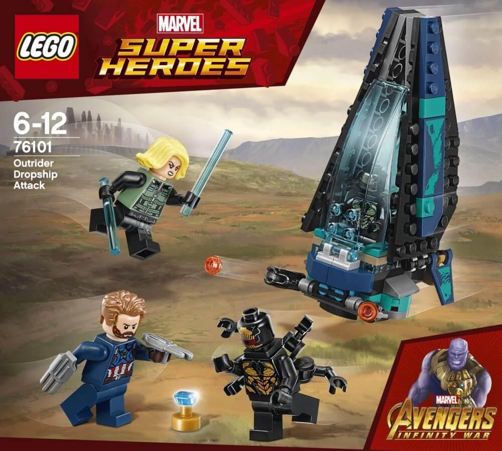 Mua đồ chơi LEGO 76101 - LEGO Marvel Super Heroes 76101 - Tàu Bay Outrider phục kích Captain America (LEGO Marvel Super Heroes 76101 Outrider Dropship Attack)