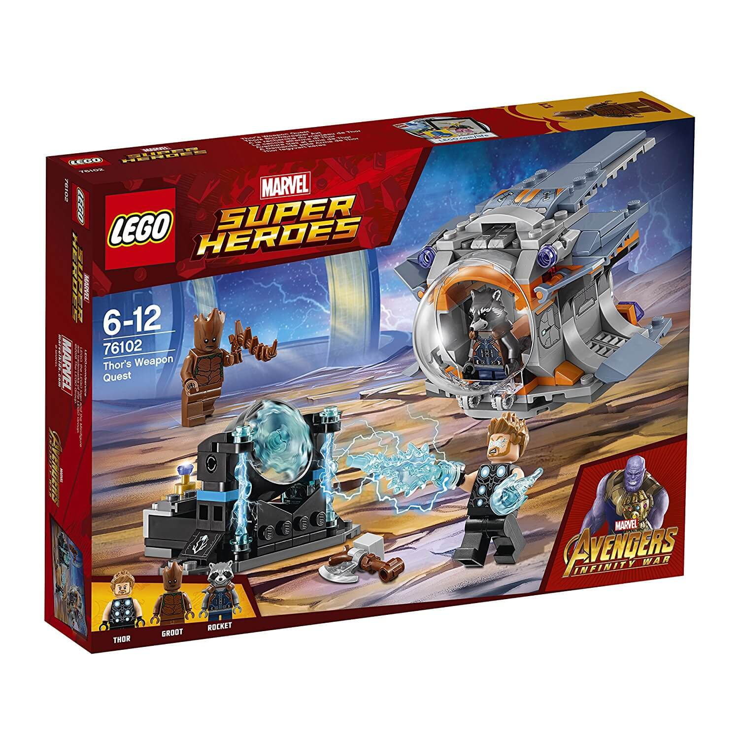 Mua đồ chơi LEGO 76102 - LEGO Marvel Super Heroes 76102 - Bộ Vũ Khí của Thor (LEGO Marvel Super Heroes 76102 Thor's Weapon Quest)