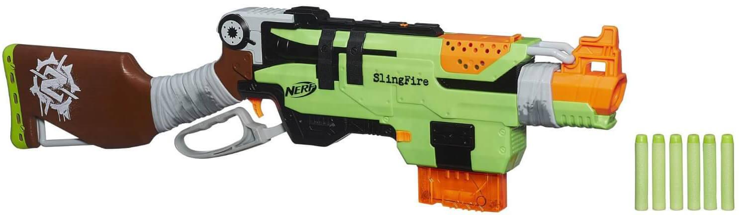 Mua đồ chơi Súng NERF A6563 - Súng NERF ZOMBIE STRIKE SLINGFIRE BLASTER