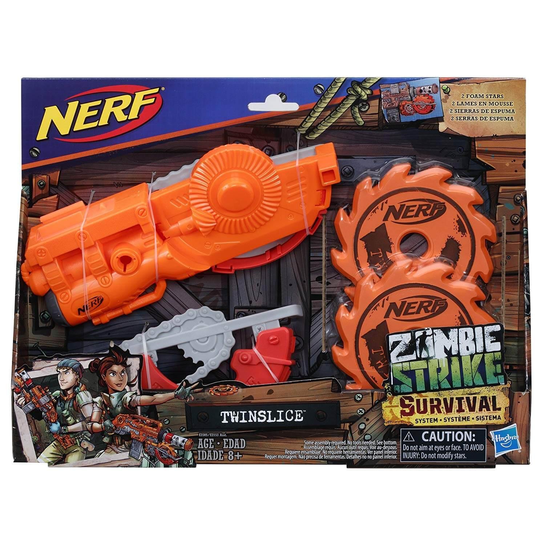 Mua đồ chơi súng NERF E2305 - (Mã: E2305) Máy Cưa gắn Súng NERF Zombie Twinslice (dòng Zombie Strike)