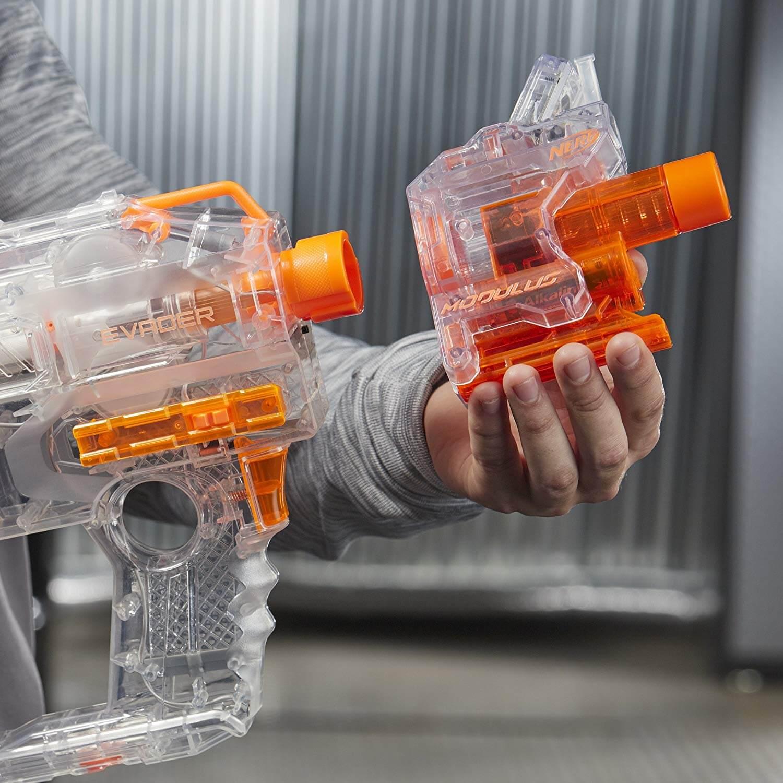 Mua đồ chơi súng NERF e1621 - (Mã: e1621) Nòng Súng đo tốc độ/số lượng đạn NERF ChronoBarrel (dòng Modulus N-Strike)