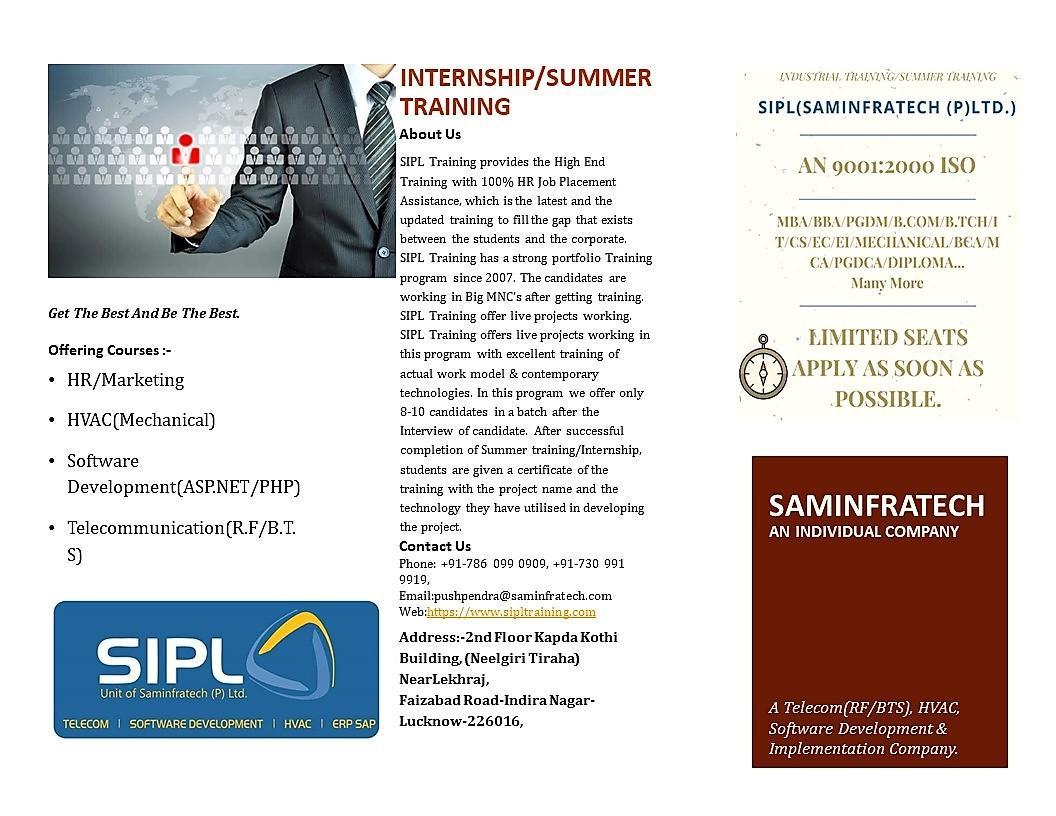 2019 Mechanical Engineer Internships with SamInfratech