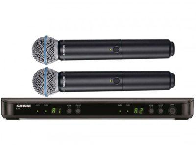 Mikrofon-Vokal-Wireless-Tanpa-Kabel-Shure-BLX288-BETA-58A