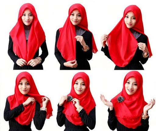 8 Tutorial Hijab Segitiga Tanpa Ninja Terbaru dan Simple