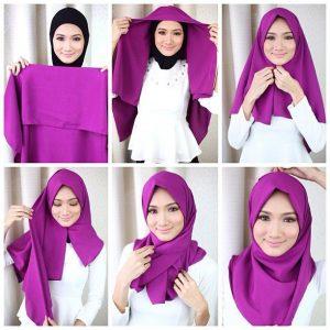 Jilbab Segiempat Ke Kampus Muka Tirus