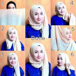 Hijab Pashmina Rawis Simple Elegan