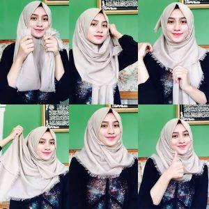 Hijab Pashmina Rawis Simple OOTD Kekinian