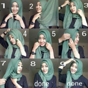Hijab Pashmina Rawis Simple