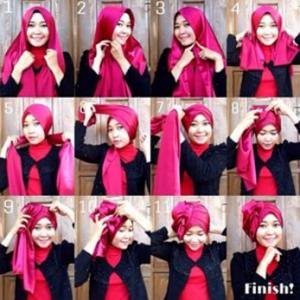 Hijab Pashmina Satin Acara Pesta Glamour Tanpa Aksesoris