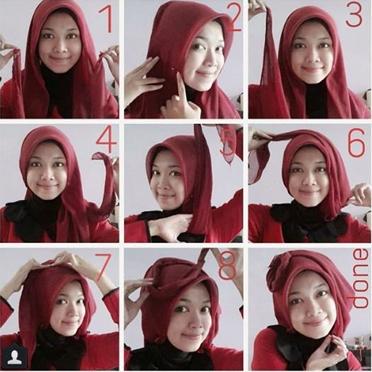 8 Cara Memakai Hijab Segitiga Simple dan Modis