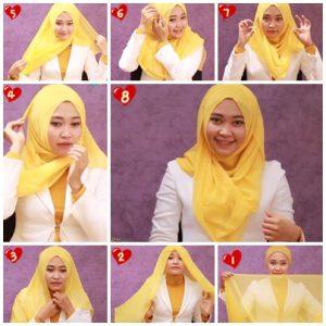 Hijab Kerja Segi Empat Simple Modern