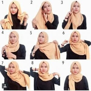 Jilbab Rawis Simple untuk Kuliah