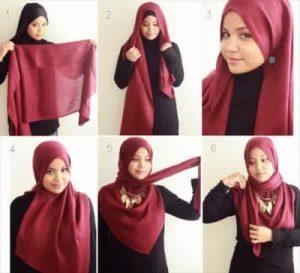 Hijab Casual Menutup Dada