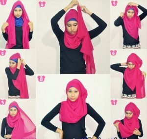 Hijab Pashmina Sifon Polos Casual