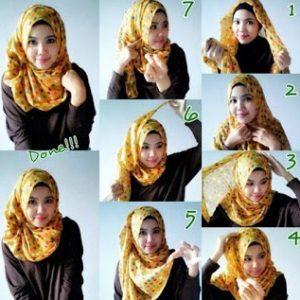 Hijab Pashmina Motif Casual