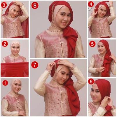 6 Cara Memakai Jilbab Paris Simple dan Modern