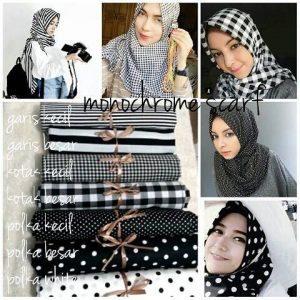 Jilbab Model Monochrome