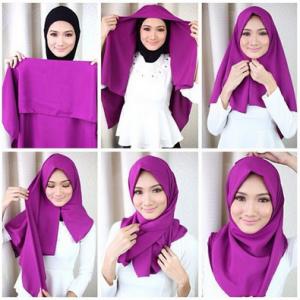 Hijab Pashmina Satin di Kampus