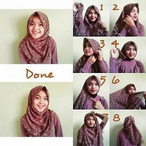 Hijab Rawis Bermotif
