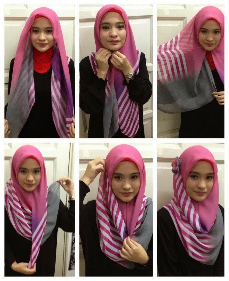 6 Tutorial Jilbab Segitiga Simple Dan Cantik Hijabyuk Com